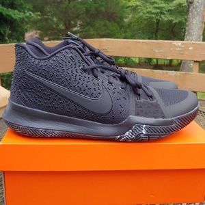 Nike Kyrie 3 Triple Black Marble basketball shoes